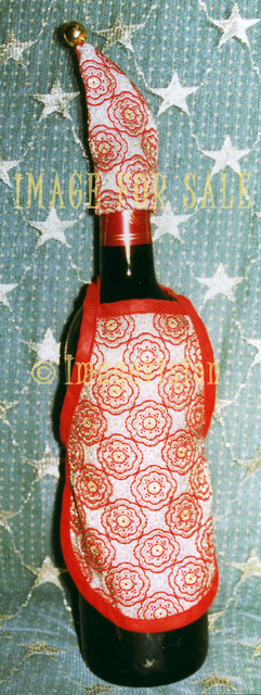 for sale winebottle with christmas suit