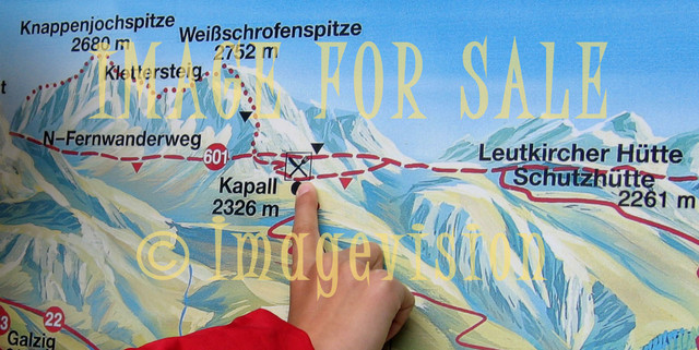 for sale finger on mountain map in austria