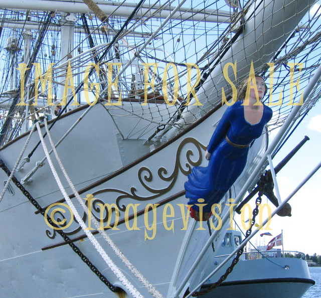 for sale female figure of tall sailing ship
