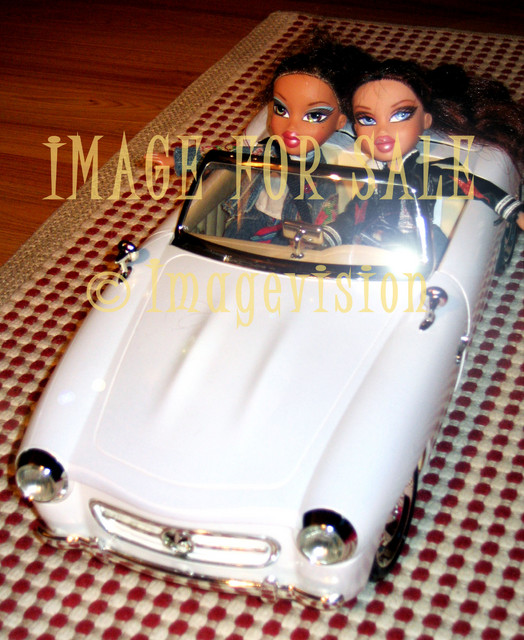 for sale stylish bratz girls driving white car