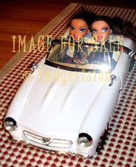 for sale stylish bratz girls driving white car