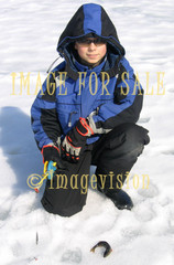 for sale satisfied ice fisher on ice