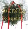for sale spruce branch christmas decoration and snow forest