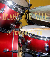 for sale red drumset and sticks