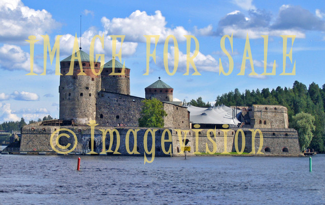 for sale lake view into castle of Olavinlinna