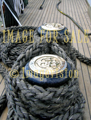 for sale thick ropes on ship deck