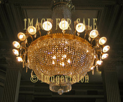 for sale bright lighted massive chandelier