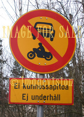 for sale traffic sign car and motorbike