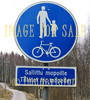 for sale traffic sign pedestrians and bike