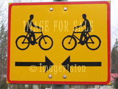 for sale traffic sign two bikes