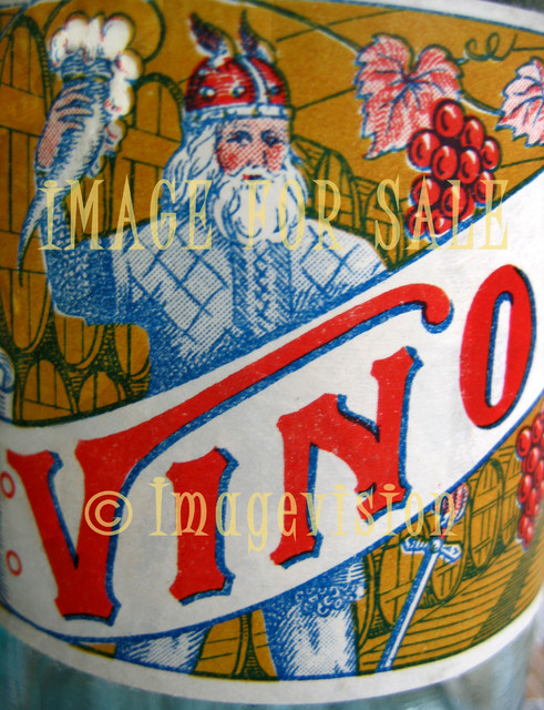for sale antique wine label with viking