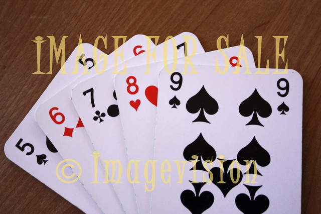 for sale playing cards straight