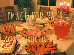 for sale birthday party food on candle light