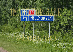 for sale finnish village road sign