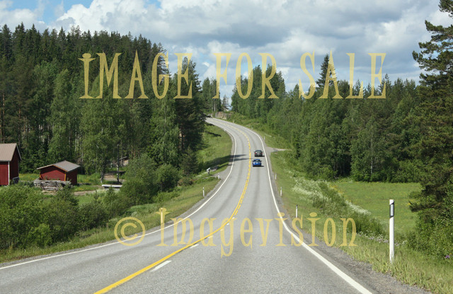 for sale typical finnish countryside road