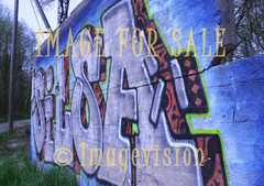 for sale graffiti greeting in forest