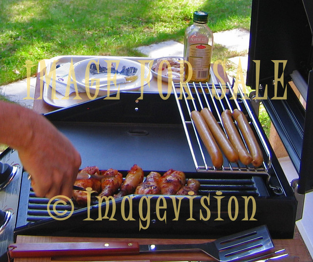 for sale grilled chicken and sausages