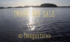 for sale glittering sun rays on water surface