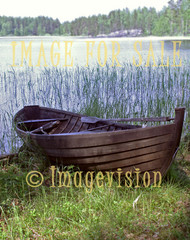 for sale rowing boat and lake view