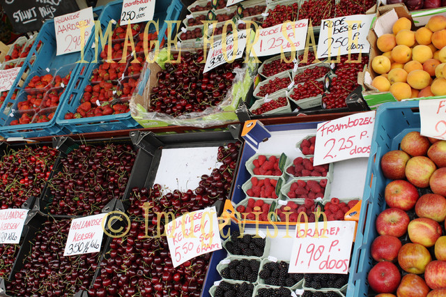 for sale fruits and berries on dutch market