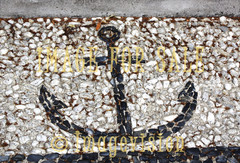 for sale anchor figure made with stones