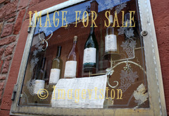 for sale wines on window display