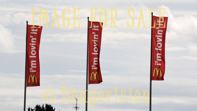 for sale mcdonalds loving it flags