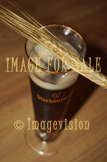 for sale barley and glass of beer