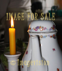 for sale evening tea moment with candle-light
