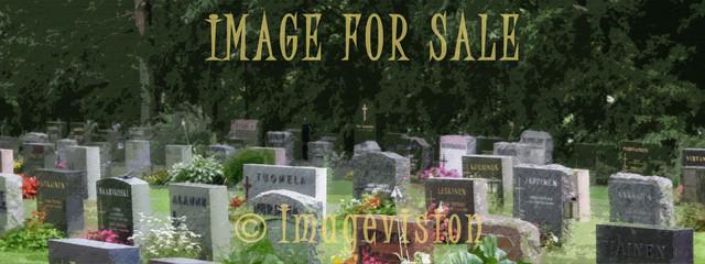 for sale peaceful graveyard view_canvas art
