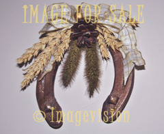 for sale decorated horse shoe