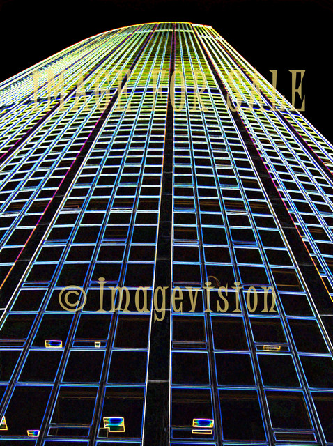 for sale blue skyscraper_dark glow effect