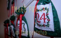 for sale handmade christmas calendar on wall