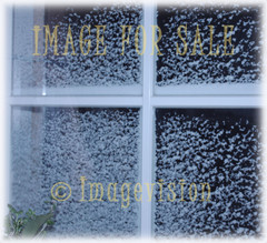 for sale snow on window_soft frame