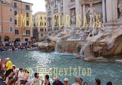 for sale trevi fountain and tourists