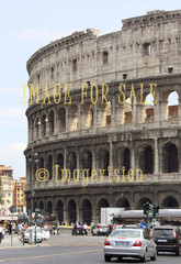 for sale roman colosseum and surrounding traffic
