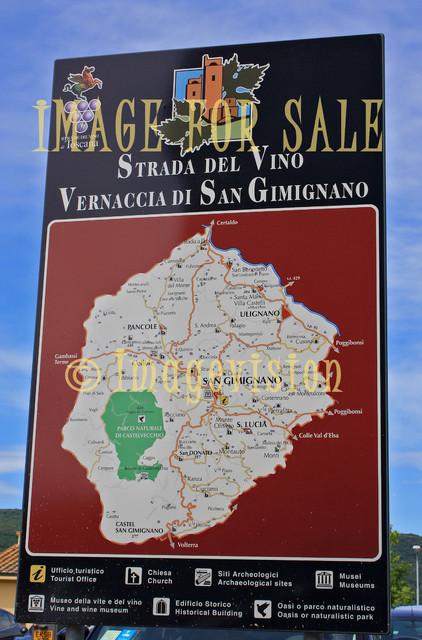 for sale san gimignano wine street map