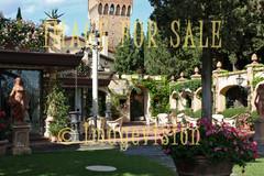 for sale flourishing italian garden with statues