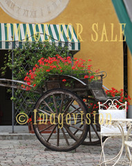 for sale horse carriage decorated with flowers