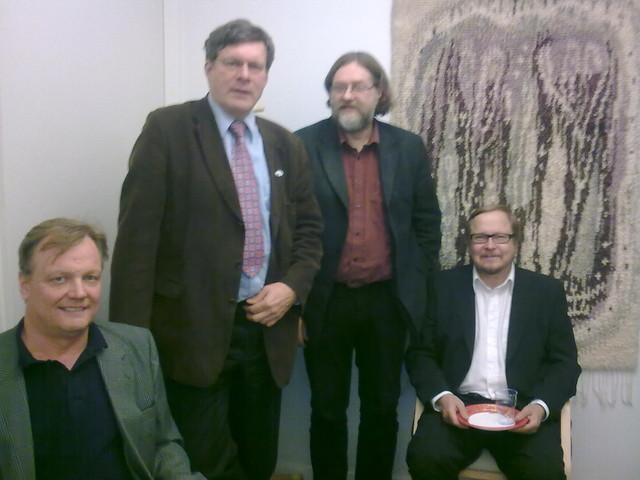 Vasemmalta Pekka Perämäki, Olli Piirtola, Hannu Nousiainen ja Jorma Mönkkönen