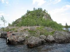 Ukonkivi Island Inarijärvi Lake