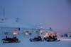 Snowmobiling from Ivalo to Saariselkä Ivalo Trek