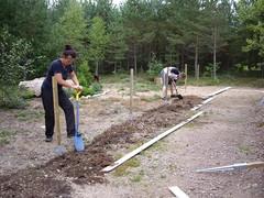 10.8.2013 Ojan kaivuu verkon alareunaa varten