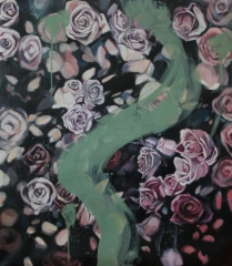Roses - 2018 - Oil on canvas - 80x55 cm