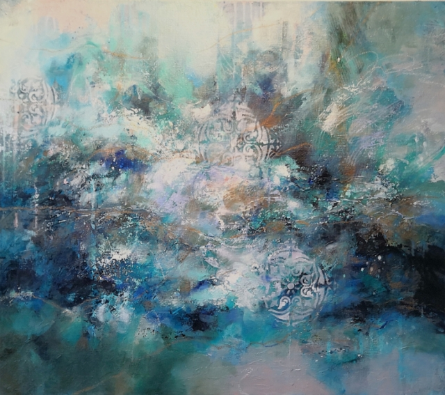 Motion of emotion - 2020 - Acrylic and oil on canvas - 81x92cm - SOLD