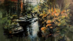 I told my secrets to the forest - 2020 - Oil on canvas - 63x110cm - SOLD
