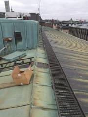 Kattoturvallisuutta kuparikatolle.