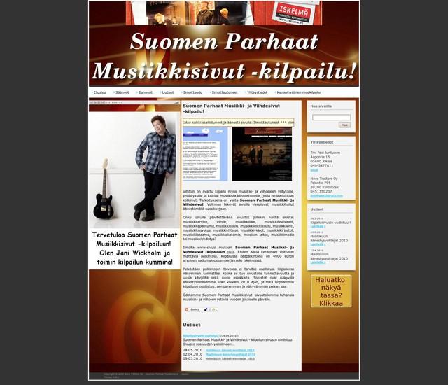 suomen parhaat musiikki- ja viihdesivut -kilpailu_1275020334960