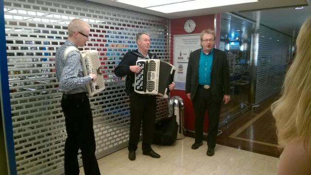 Harmonikkaristeilyn käytäväkonsertti