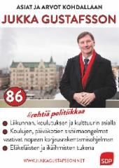 Jukka Gustafsson kuntavaaliehdokas numero 86